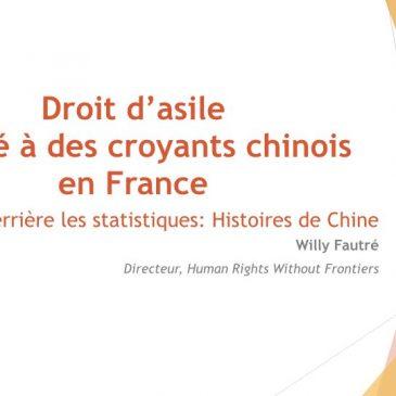 Droit d'asile refusé à des croyants chinois en France
