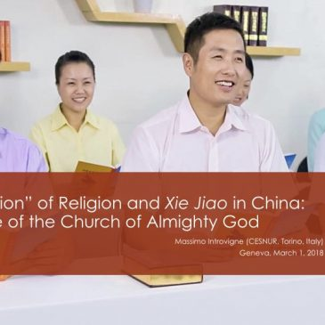 """Sinicization"" of Religion and Xie Jiao in China: The Case of the Church of Almighty God"