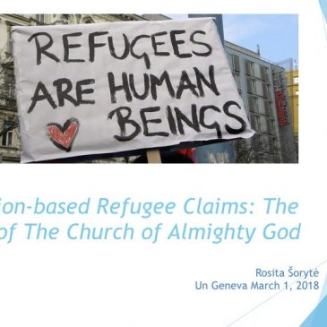 Religion-based Refugee Claims: The Case of The Church of Almighty God