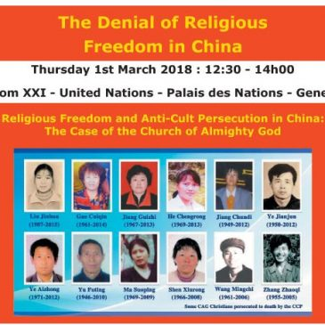 Religious Freedom and Anti-Cult Persecution in China: The Case of The Church of Almighty God