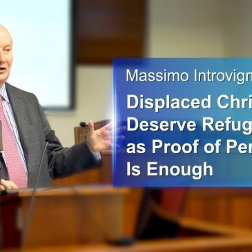 Massimo Introvigne Displaced Christians Deserve Refugee Status as Proof of Persecution Is Enough
