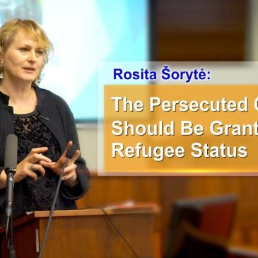 Rosita Šorytė: The Persecuted Christians Should Be Granted Refugee Status